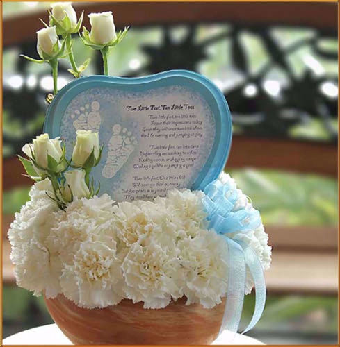 Picture of Baby Floral Two Little Feet Arrangement