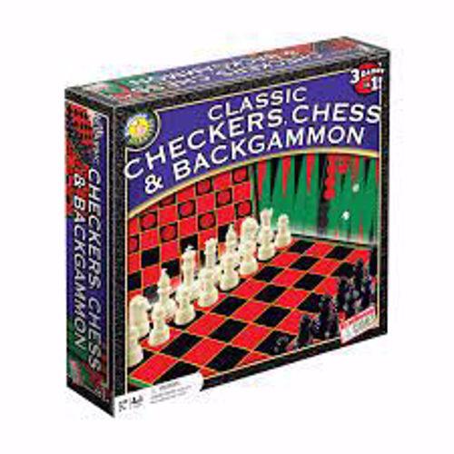 Picture of Classic Checkers, Chess & Backgammon